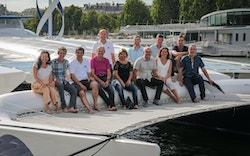 Les équipes du CEA-LITEN bord d'Energy Observer