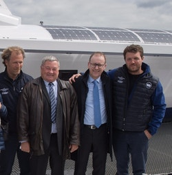 Energy Observer and the CMGO teams together onboard Energy Observer