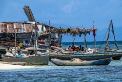 Boat and fishermen in Haiti