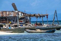 Boat and fishermen in Haiti