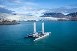 Energy Observer sailing in Svalbard