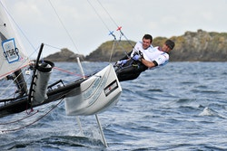 Nicolas Hulot and Victorien Erussard sailing