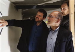 Daniel Antoni, Managing Director of Thélem assurances with Victorien Erussard and Jérôme Delafosse