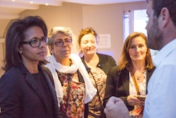 Audrey Pulvar and members of the Fondation Nicolas Hulot meet Energy Observer