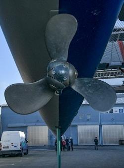 A boat propeller