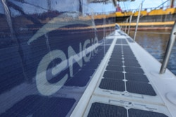 Solar panels screen-printed with the ENGIE logo
