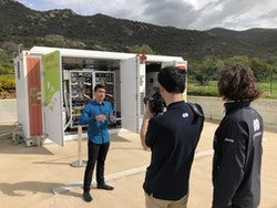 Energy Observer's crew meet the Myrte Project in Corsica