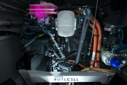 Picture of the Toyota Fuel cell system onboard Energy Observer