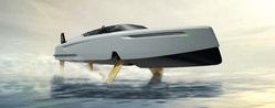 3D image of a yacht of the future