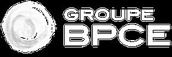 Logo of Groupe BPCE in white