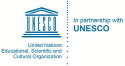UNESCO Logo EN  in English in colors
