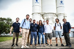 Our crew at the Guiana Space Center