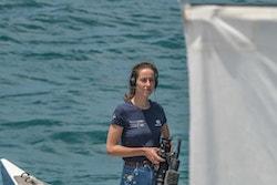 Photo d'Amélie sur le bateau