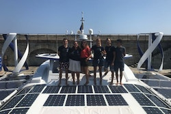Picture on the deck of Energy Observer