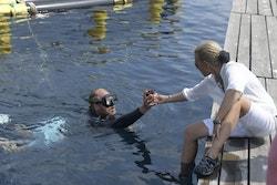 Jérôme diving in Zadar