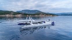 Energy Observer sails along the Island