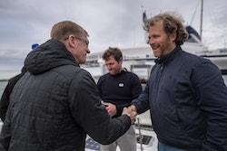 Jérôme meets Tallin's Mayor onboard