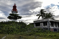The lighthouse of the Ilet Gosier