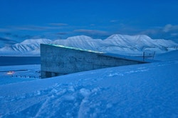 Picture of the entry of the Svalbard Global Seed Vault